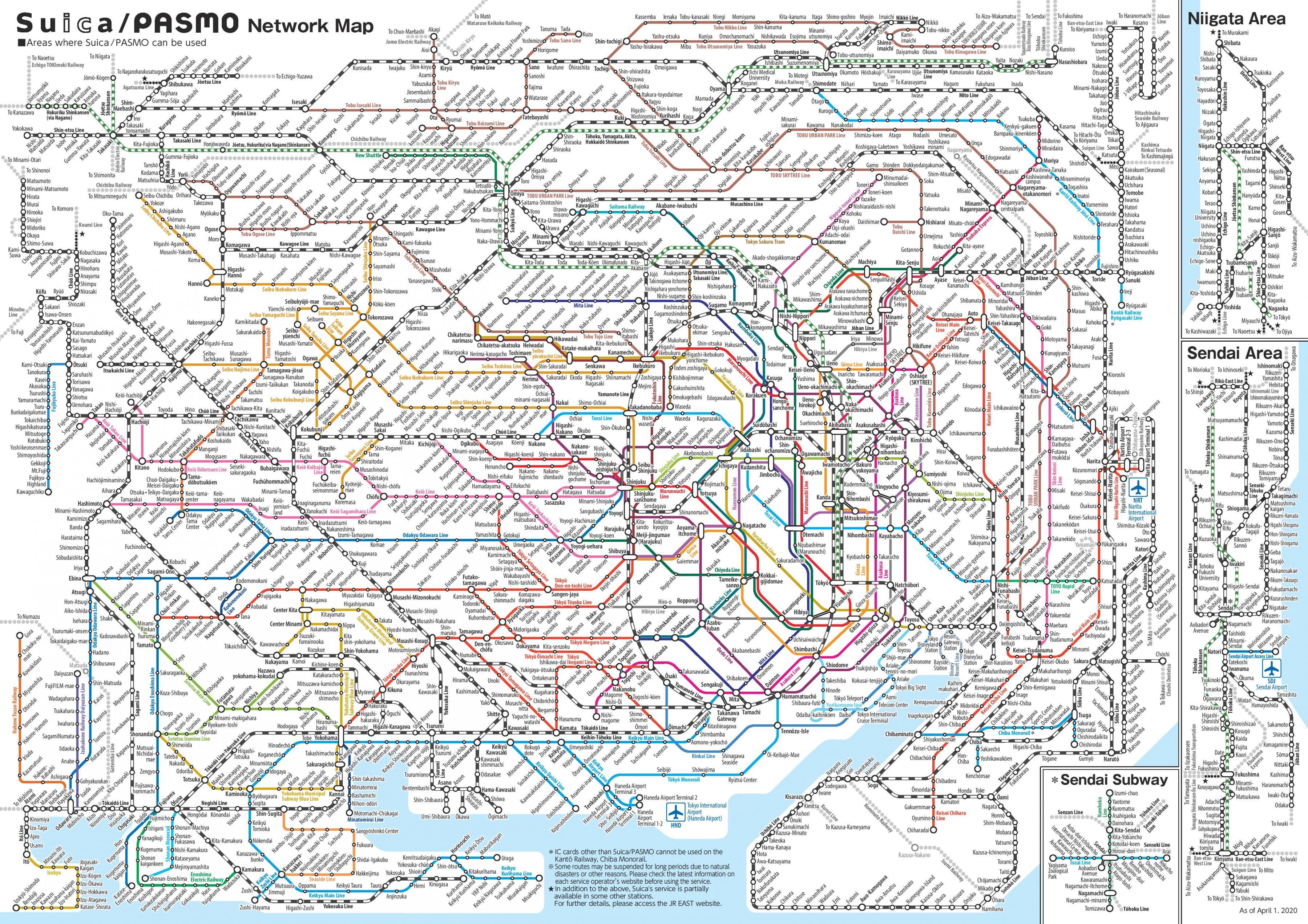 Tokyo Rail Map Japan Rail Map Tokyo Kantō Japan