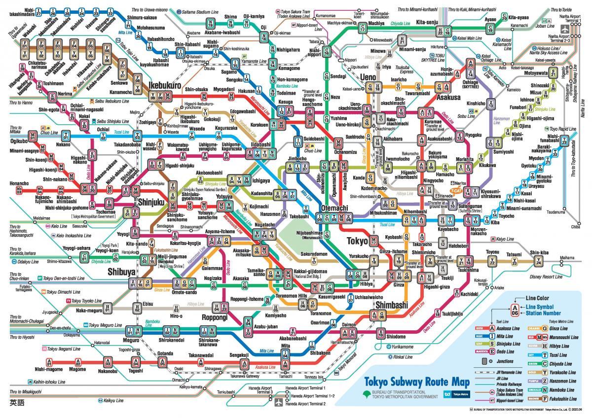 Tokyo Subway Map In English